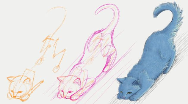 Cat Drawing Practice - Ready Cat by Minks-Art