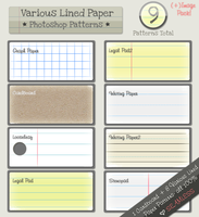 Lined Paper Patterns by kittenbella