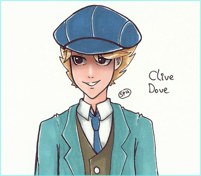 Professor Layton| Clive Dove | Inktober Day 6 by SpanishPandaHero