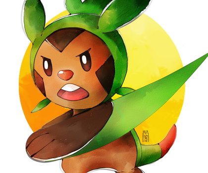 Chespin by The-Empty-Sky
