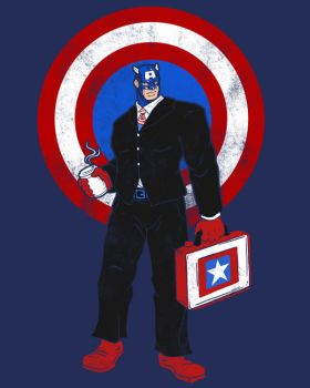 Captain Corporate America by spacemonkeydr