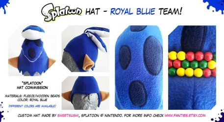 Splatoon Boy Hat - Royal Blue Team! renewed by Bathsua