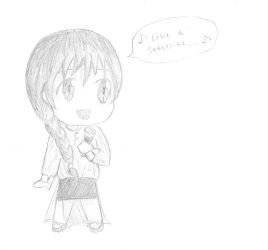OU Contest - Lena Meyer-Landrut Chibi by dreams-and-starlight