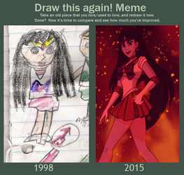 Draw This Again Meme: Sailor Mars by Wickfield