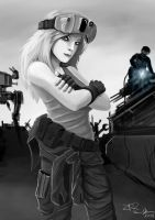 Battletech Mechanic by ZeroPointTwo