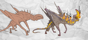 dragons by Rodendron