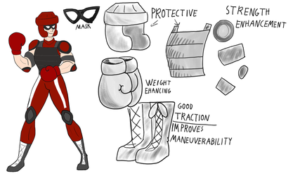 Boxing Superhero Concept - The Champ! by Troyodon