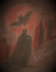 The Batman (Charcoal Pastel) by BrogarArts