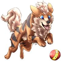 Pokemon time 7 Growlithe for MinuetteTune by shinayra