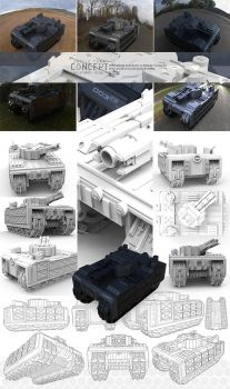 Battle Tank Concept by silva018