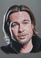 Brad Pitt by Andromaque78