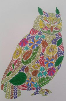 Owl in all its colored layers by Ros3X3na