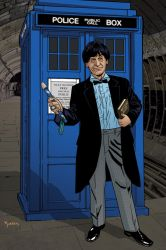 2nd Doctor and TARDIS by KellyYates