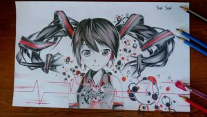 Zatsune Miku fan art. by Saiskh