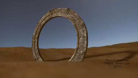 Blender Cycles Stargate by Pharaoh-Hamenthotep