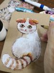 Painting cat by Estheryu
