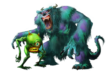 Mike and Sulley by pungang