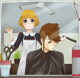 Icarus about to get a haircut by corrupted-azero