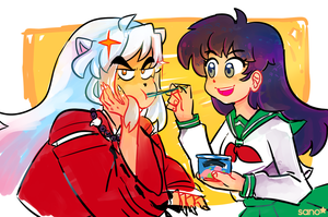 Inu and Kag WOAH WHAT IS THIS by SanoStar