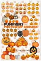 Free Pumpkins Photoshop Brushes by ibjennyjenny