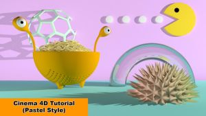 Pastell-Style (Cinema 4D - Tutorial) by NIKOMEDIA