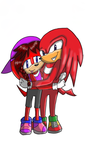 100 point Commission: Chaos and Knuckles by Sarah-The-Lion-Wolf