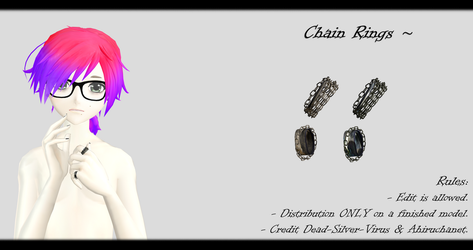 [MMD] Chain Rings DL ~ by o-DSV-o