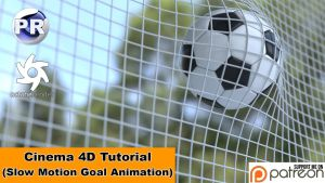 Slow Motion Goal Animation (Cinema 4D Tutorial) by NIKOMEDIA