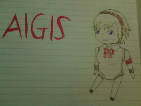 Aigis Chibi Attempt by RendezvousHikari