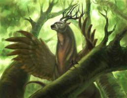 Forest Guardian Beast by Edpic