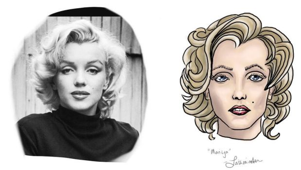 Face Study 6 - Marilyn Monroe by Lathminster