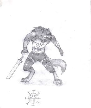 Wolf Anthromorph Pirate by Scythes4Hands