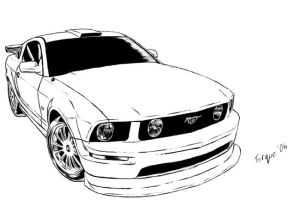 Ford Mustang GT by JoeLComics