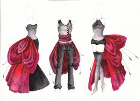 costume design with black color by Paskhalidi