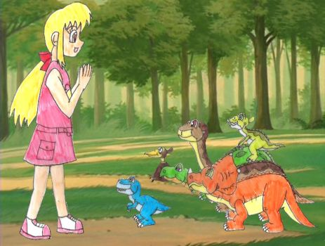 Meg meets Littlefoot and co again by Animedalek1