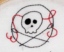 Skull 'n Needles by VickitoriaEmbroidery