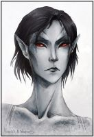 Dunmer: collab-sketch by Elleylie