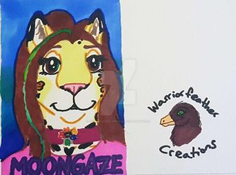 Moongaze the Jaguar Badge-2018 by ChocolateStarfire