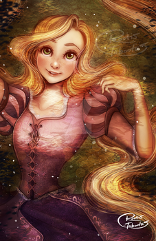 Disney Princess Rapunzel by RootisTabootus