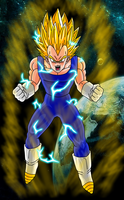 Vegeta super sayan 2 by HayabusaSnake
