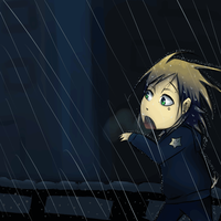 rainy run by Booneko