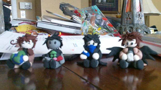 Fandomstuck Sculptures Part 1 by SkittsTheEchidna