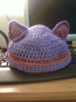 +Crochet+ Kitty Hat by tigerqueen