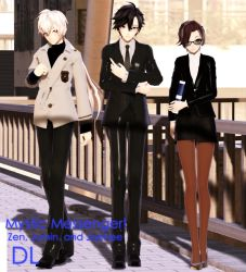 MMD Mystic Messenger Zen, Jumin, and Jaehee DL by ZKArti