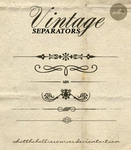 Vintage Separator | BRUSHES by WhatTheHellResources