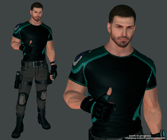 Chris Redfield Updated Work in Progress by FearEffectInferno