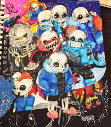 Sans' AU Party by silvergeki