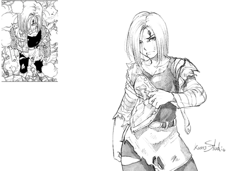 Android 18 and WIP video by Kumsmkii
