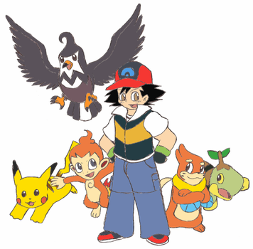 Ash and his DP Pokemon by Gaiash