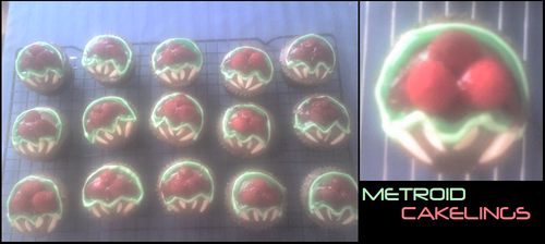 Metroid Cakelings by shortissimus